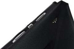 Funda tablet iPad nylon industrial detalle orificios sonido carga