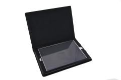 Funda tablet iPad nylon industrial vista detalle tapa abierta