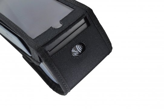 Funda Verifone X990 detalle ranura impresora