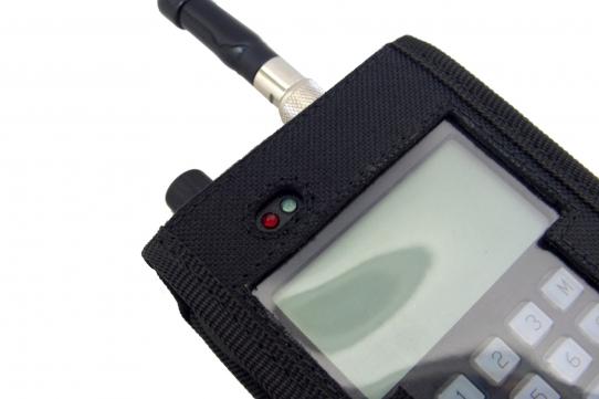 Funda walkie talkie radio emisora vista detalle frontal