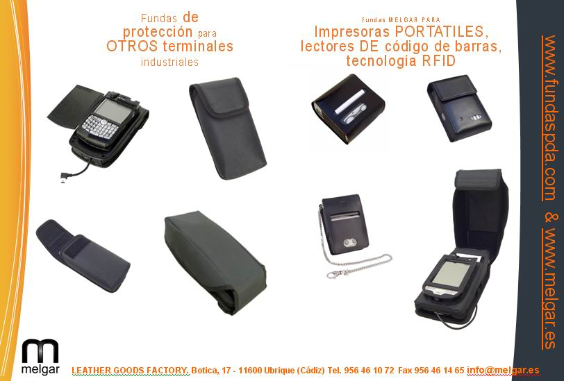 Custom protective cases for PDAs handheld computers industrial terminals and other mobile computing devices